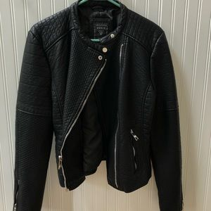 Guess leather heavy duty jacket